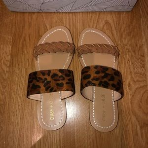Chase and Chloe Double Strap Sandals